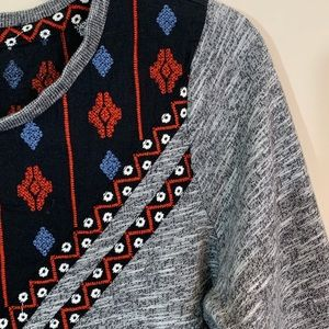 Forever 21 Tops - Forever 21 • Tribal Heather Grey Sweatshirt Small